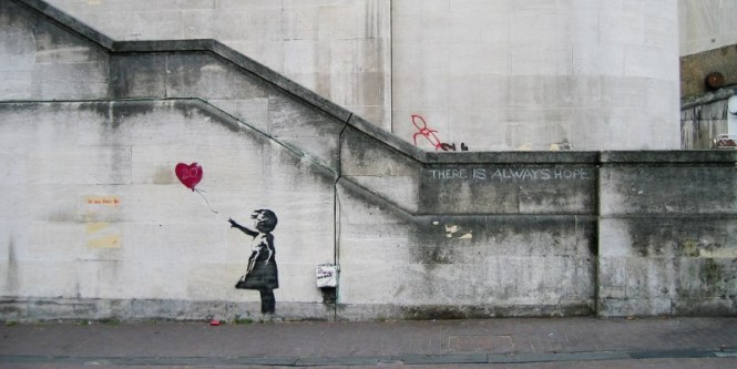 There Is Always Hope - TOP 10 GRAFFITI ARTWORKS BY BANKSY