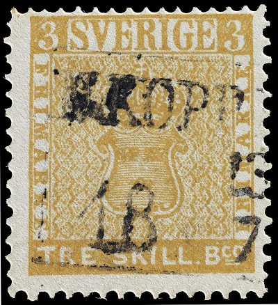 Tre skilling banco geel - TOP 10 MOST EXPENSIVE STAMPS EVER SOLD