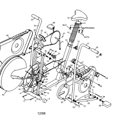 Bike Parts Diagram Shopping Cart Class Exercise Frame Drive And Flywheel