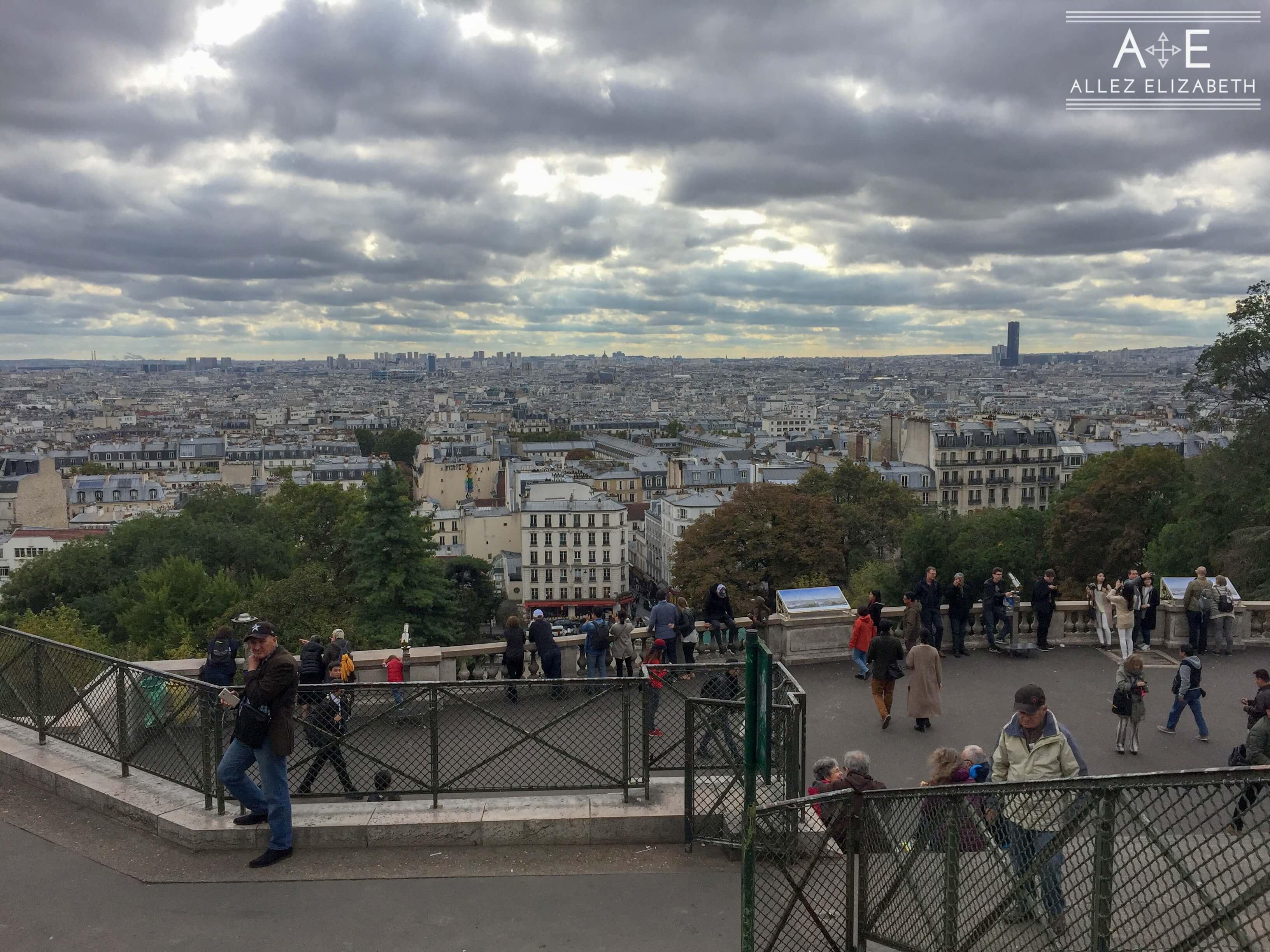 OVERLOOKING THE CITY FROM SACRÉ-CŒUR PARIS FRANCE ALLEZ ELIZABETH