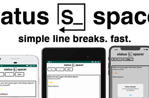 SIMPLE LINE BREAKS FAST WITH STATUS SPACER ON iPHONE AND ANDROID