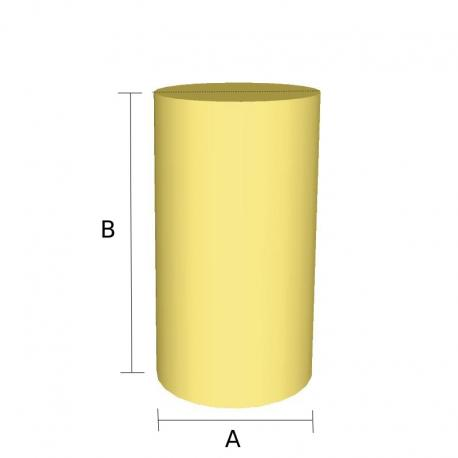 Pieza Cilindro de goma espuma cortada a medida