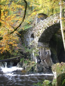 Hermitage bridge in autumn