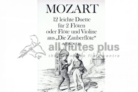 Mozart 12 Easy Duets From The Magic Flute-2 Flutes or
