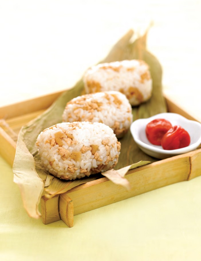 Lotus Root And Minced Chicken Onigiri All Food Chef