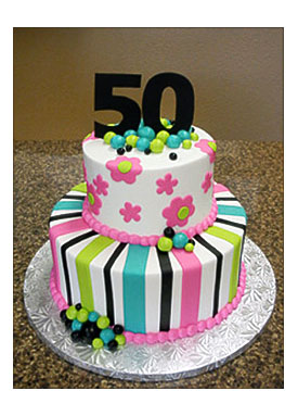 Stupendous 50Th Birthday Cake Designs For Her The Cake Boutique Funny Birthday Cards Online Alyptdamsfinfo