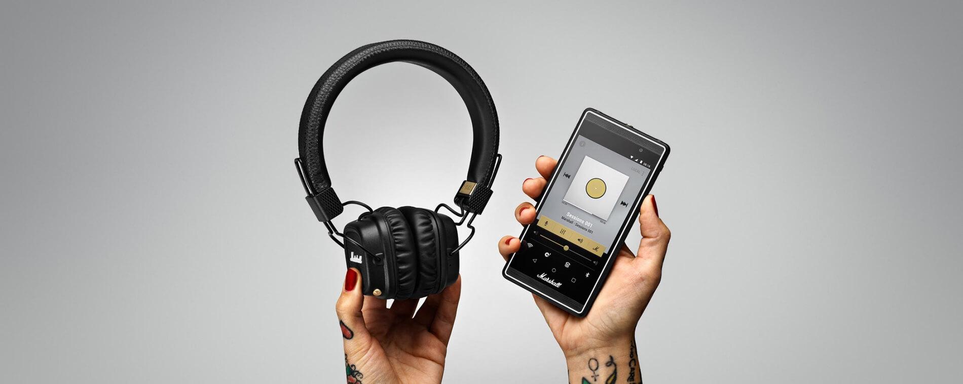 MARSHALL Major II Bluetooth Black купить Hi-Fi наушники в Москве в интернет-магазине по низкой цене.