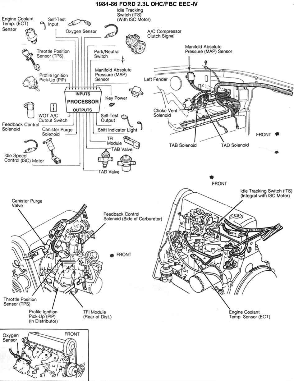 Does anyone have an 1985 Mustang 2.3L wiring diagram