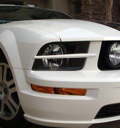 gedc0590 jpg headlight splitters on white 2005 mustang gt  [ 1199 x 899 Pixel ]