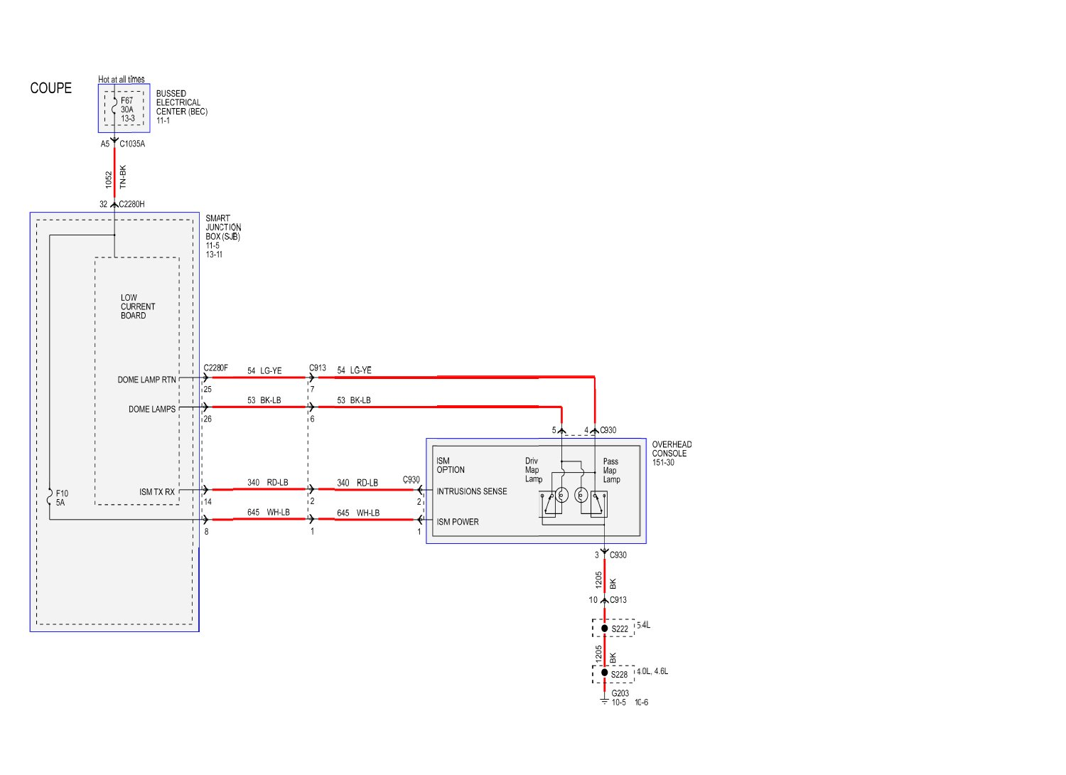 hight resolution of 2010 f250 dome light wiring schematic