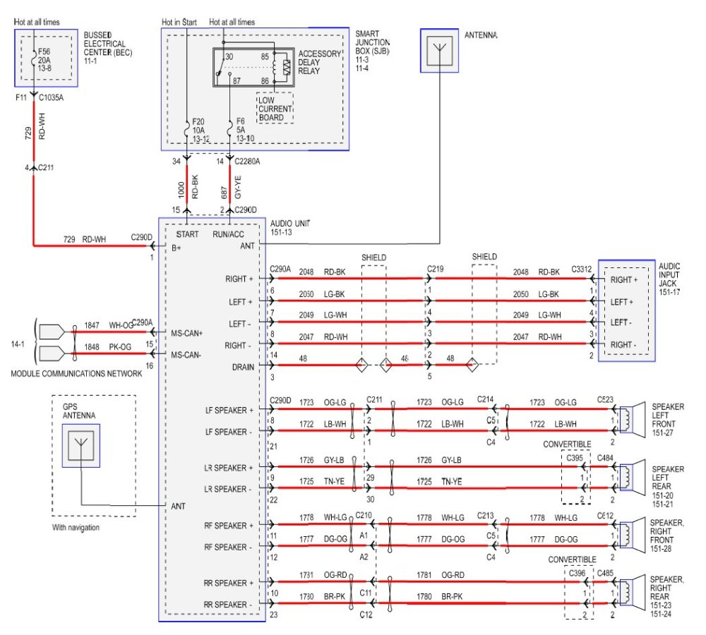 medium resolution of 2011 mustang wiring diagram wiring diagram schematic 2011 mustang wiring schematic