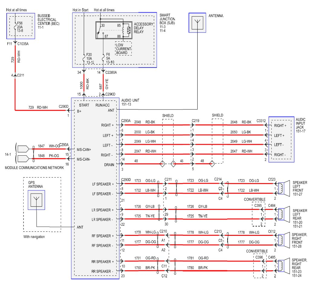 hight resolution of radio wiring diagram for 2008 v6