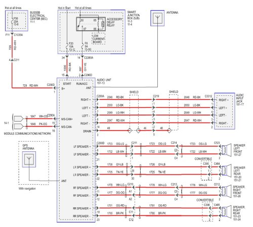 small resolution of radio wiring diagram for 2008 v6 1994 mustang gt fuse box