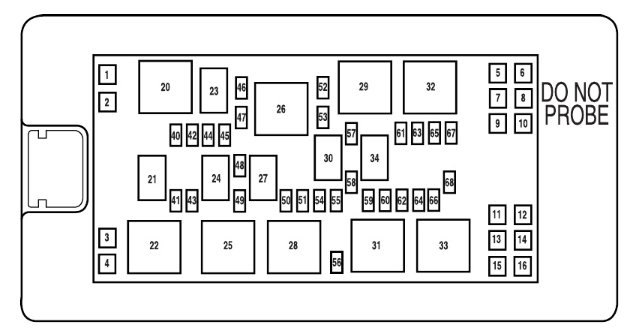 2008 Ford Fusion Large Fuse Box Diagram : 39 Wiring