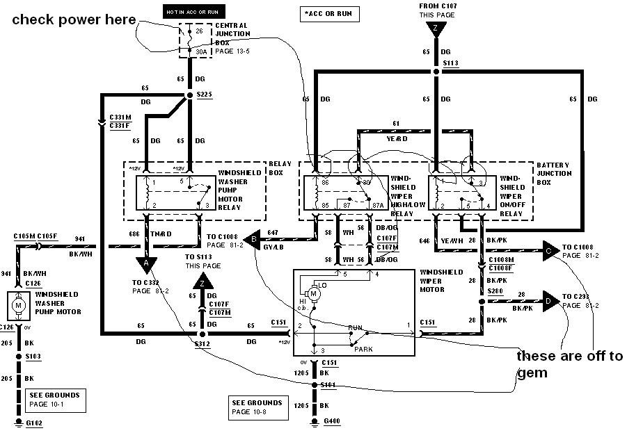 [DIAGRAM] Windshield Wiper Fuse 2000 Mustang FULL Version