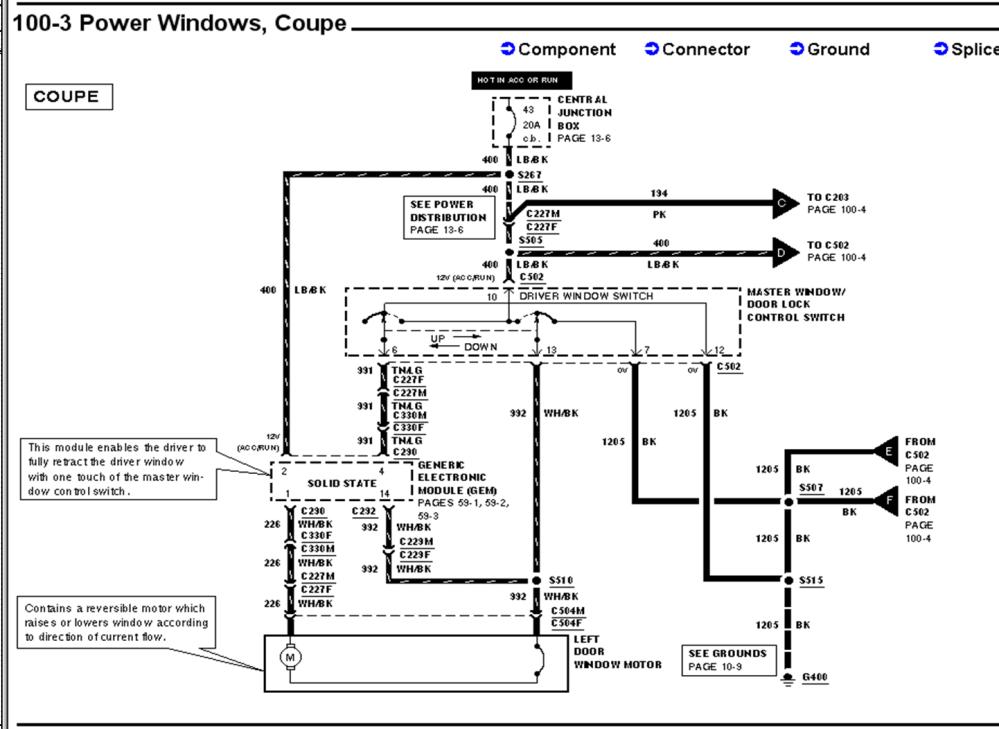 medium resolution of mustang power window wiring diagram simple wiring diagrams2003 mustang window problem fix need help