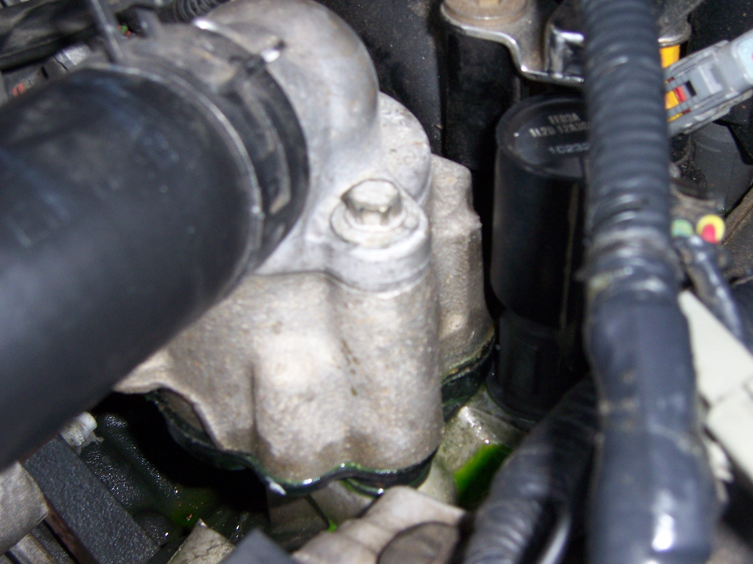 3 4 L Engine Coolant Flow Diagram Coolant Leak On My Buddies 2002 Mustang Ford Mustang Forum