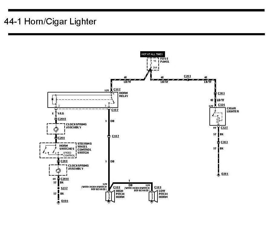 cigarette lighter wiring