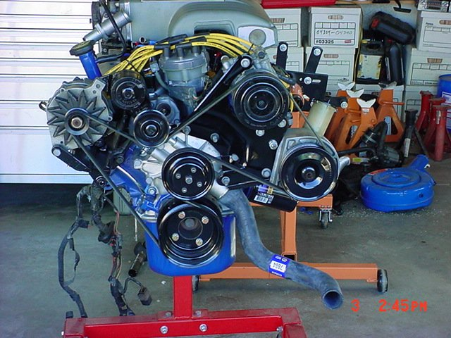 302 V8 Ford Engine Diagram Belt And Route Avoiding Smog Pump And A C Ford Mustang
