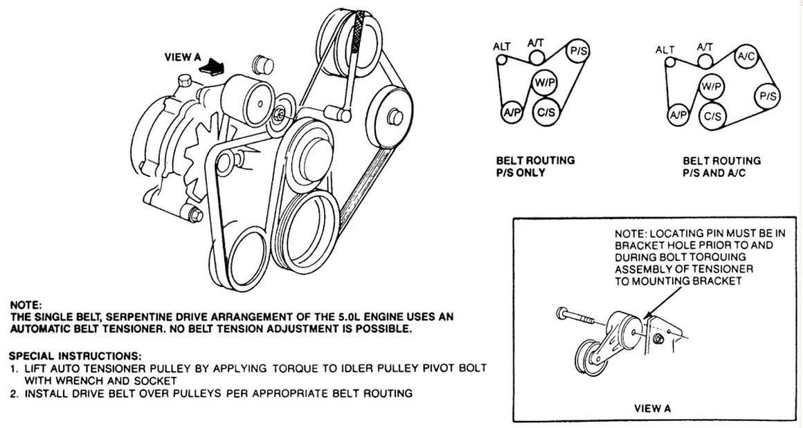 ford 302 serpentine belt diagram