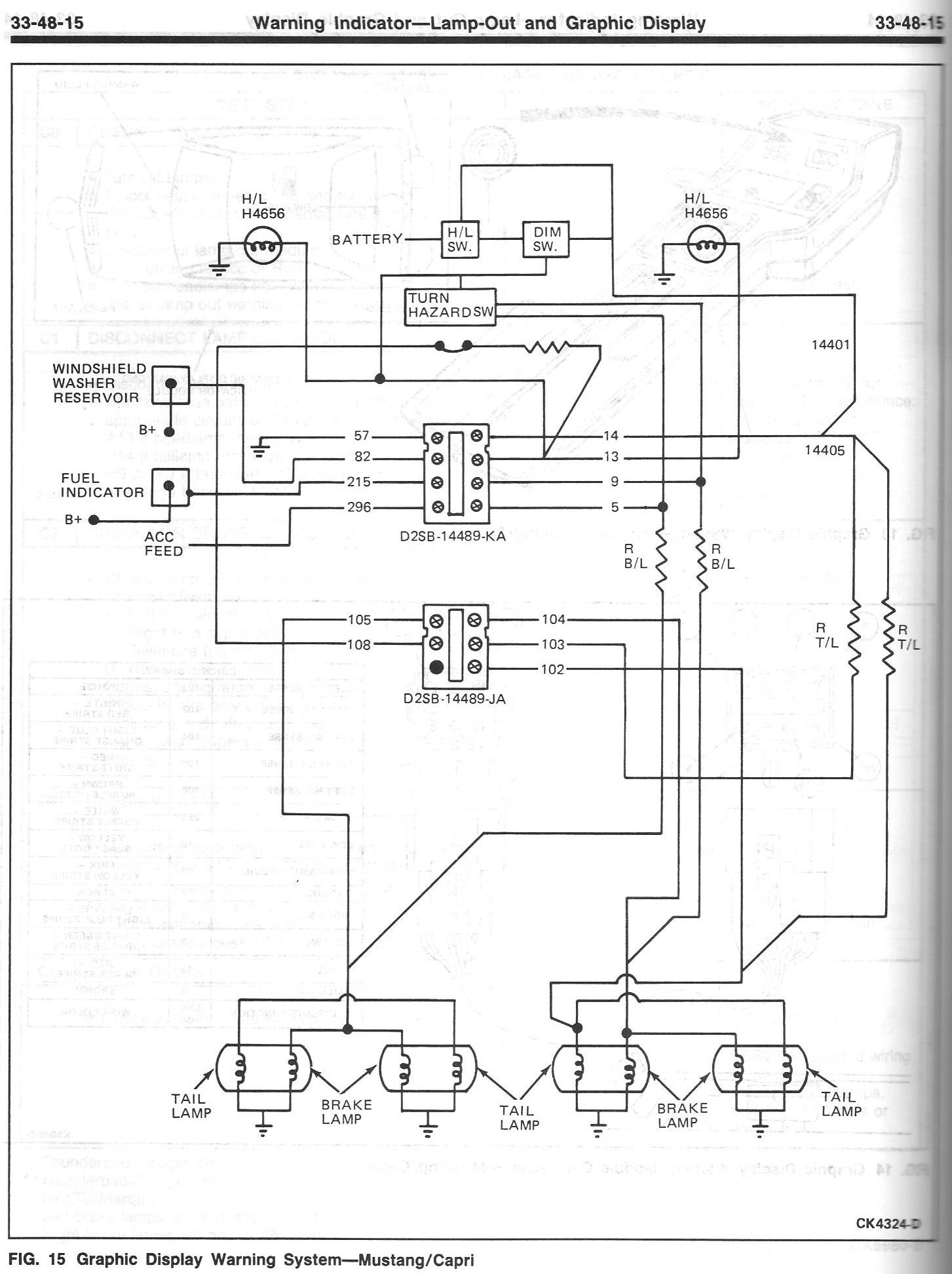 lamp wiring diagram stereo for 2004 jeep grand cherokee 1986 mustang gt, indicator lights - ford forum