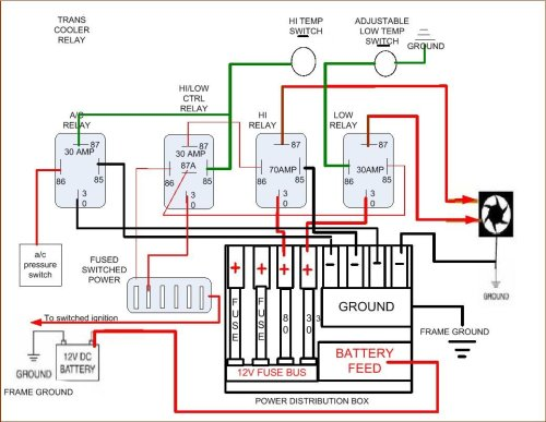 small resolution of  electric fan wiring diagram click image for larger version name 4 relay setup jpg views 11219 size