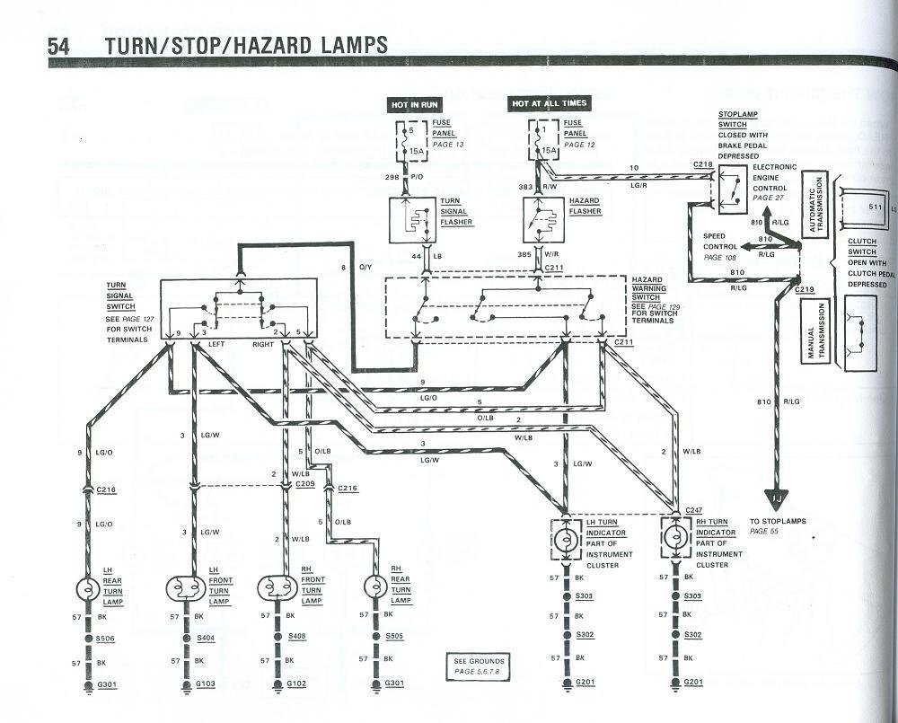 turn signal wiring diagram 1999 ford contour engine 90 mustang all data fox forum wire diagrams solenoid