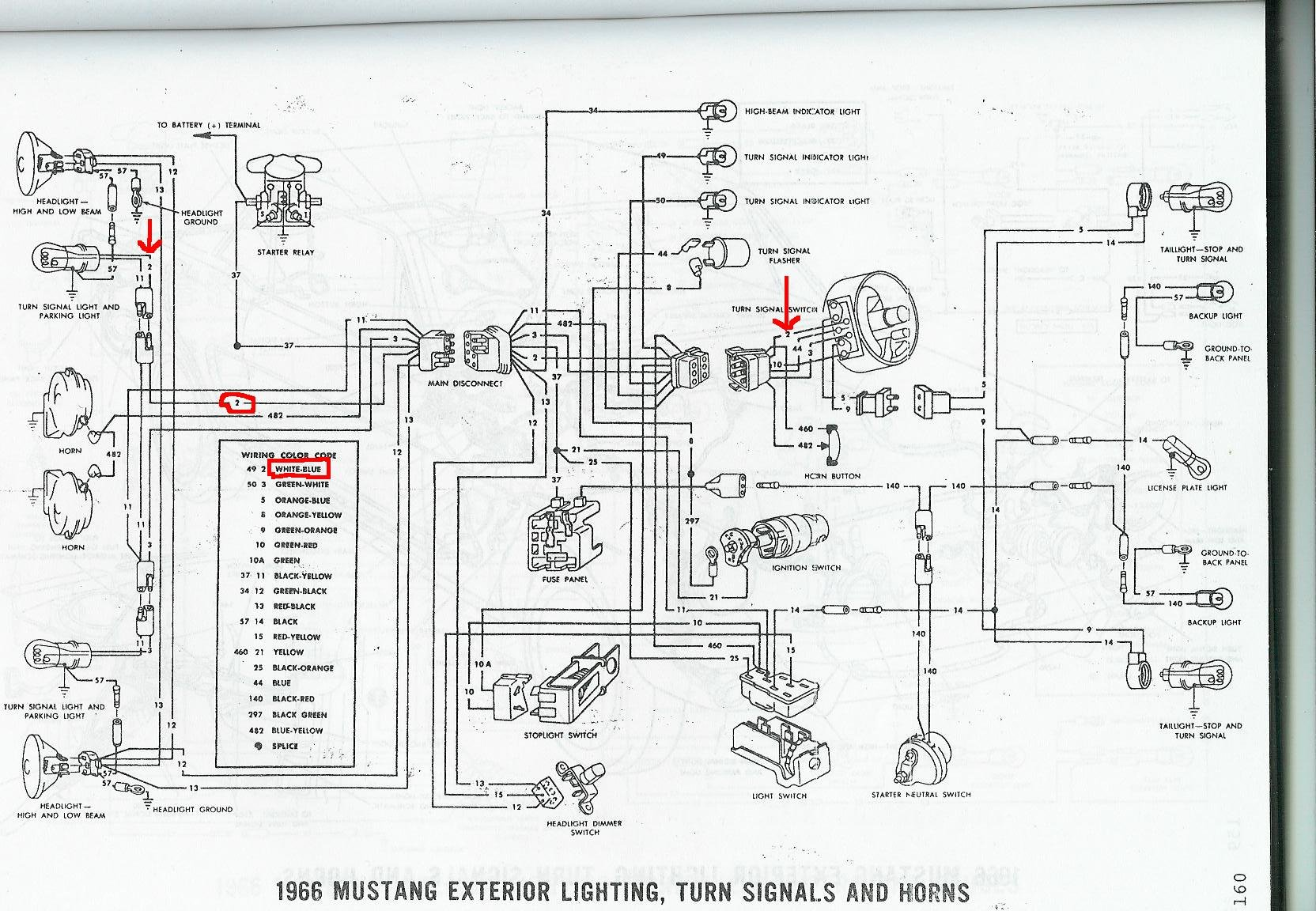 hight resolution of mustang turn signal wiring diagram on 64 65 66 mustang tail light rh bsmdot co