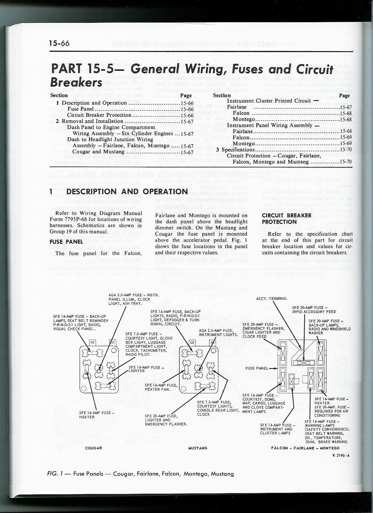 68 cougar fuse box on technical diagrams 1967 ford mustang fuse box diagram