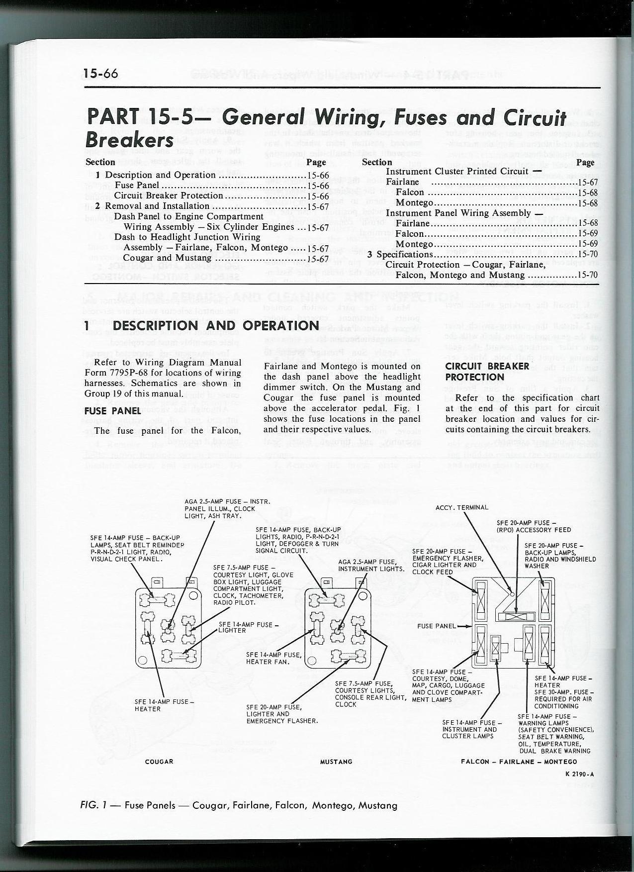 1965 Ford Mustang Fuse Box Diagram - Wiring Diagrams