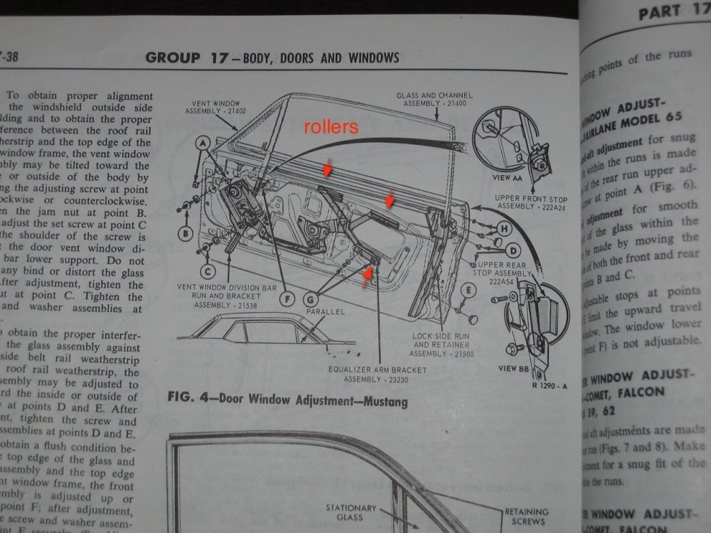 medium resolution of 65 mustang door glass diagram wiring schematic diagram1966 mustang coupe how many window rollers ford