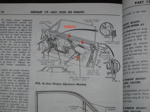 small resolution of 65 mustang door glass diagram wiring schematic diagram1966 mustang coupe how many window rollers ford