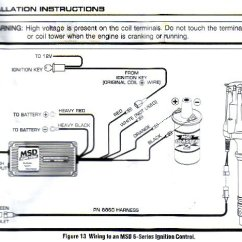 Msd 6al Wiring Diagram Mustang Fujitsu Ac Pro-billet Dizzy, Box, Blaster Coil - How Do I Get It Tied Into The Key? Ford ...