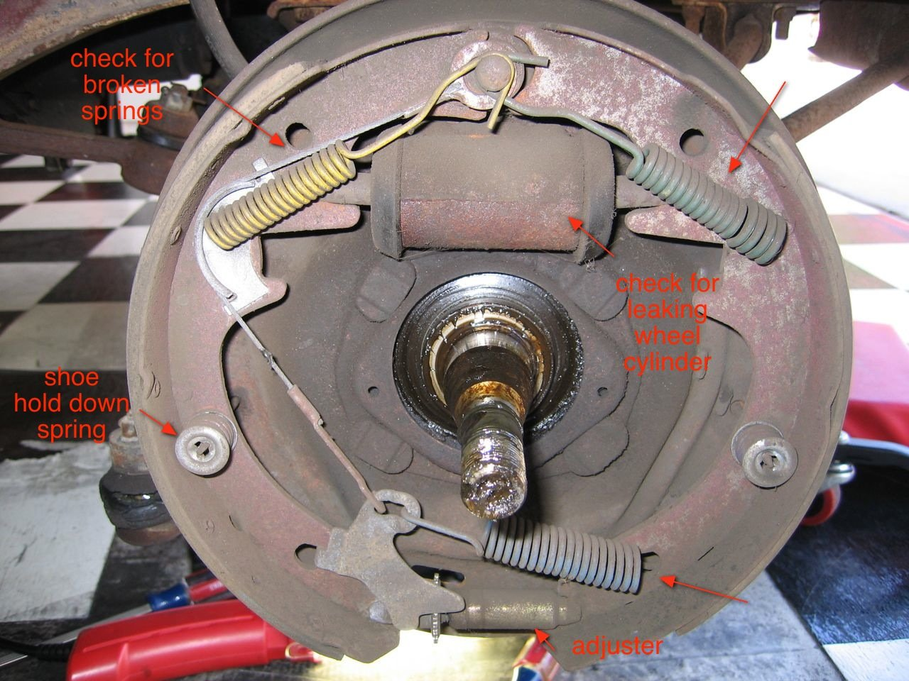 2000 ford ranger rear brake diagram toyota hilux stereo wiring 2008 1966 mustang-step hard on brakes = pull to left - mustang forum