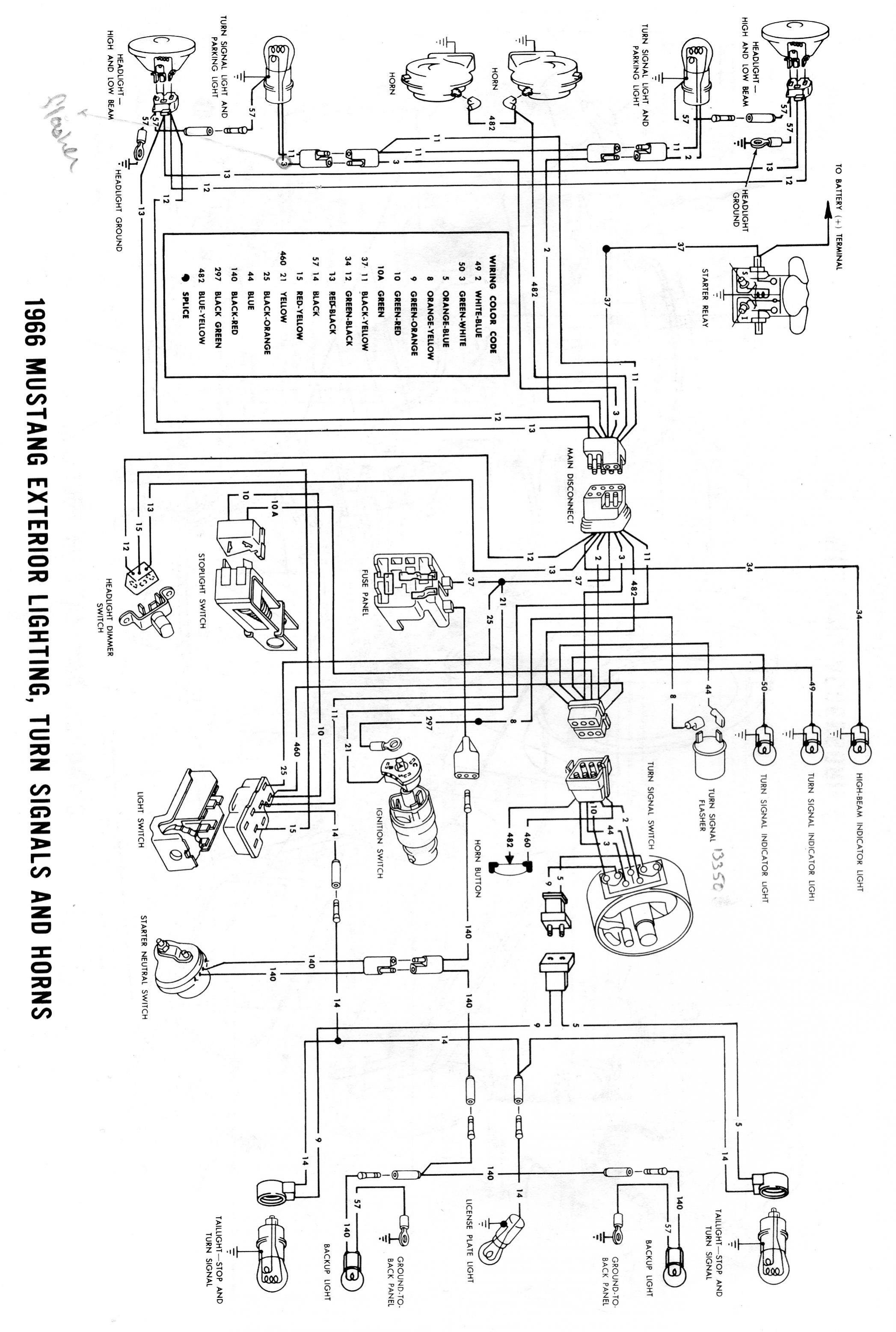 66 Ford Mustang Wiring Diagram Ford Wiring Diagram Images