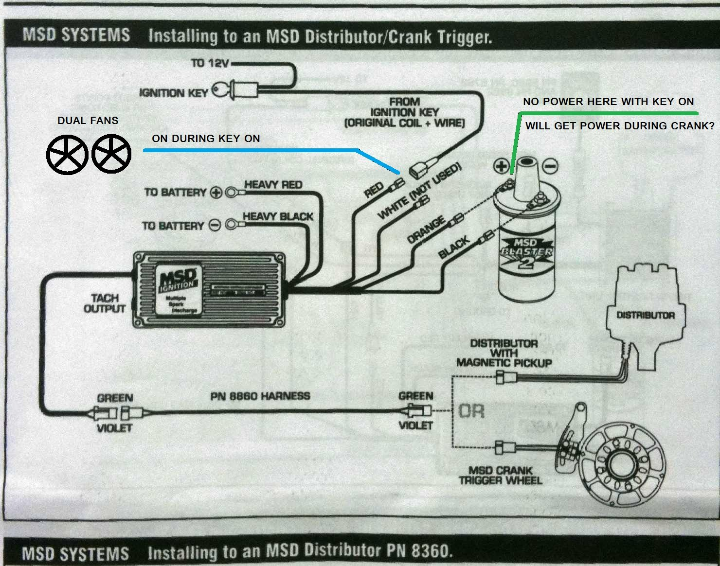 1966 Mustang Distributor Wiring Diagram Is The Coil Wire Always On Or Key On Only Ford