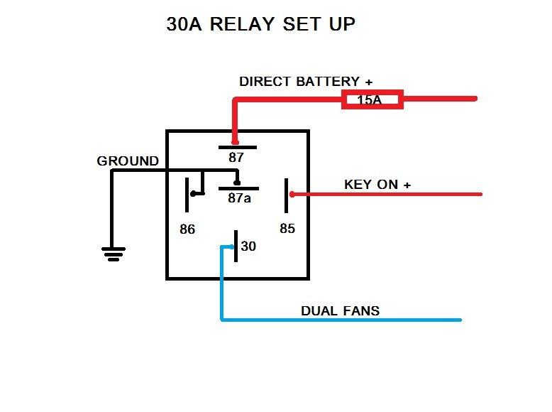 electric fan relay wiring diagram electric image fan relay wire diagram fan auto wiring diagram schematic on electric fan relay wiring diagram