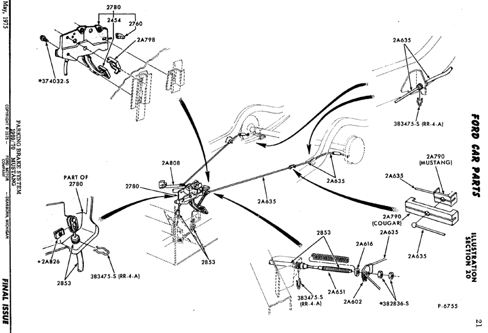 medium resolution of mustang rear brake assembly diagram