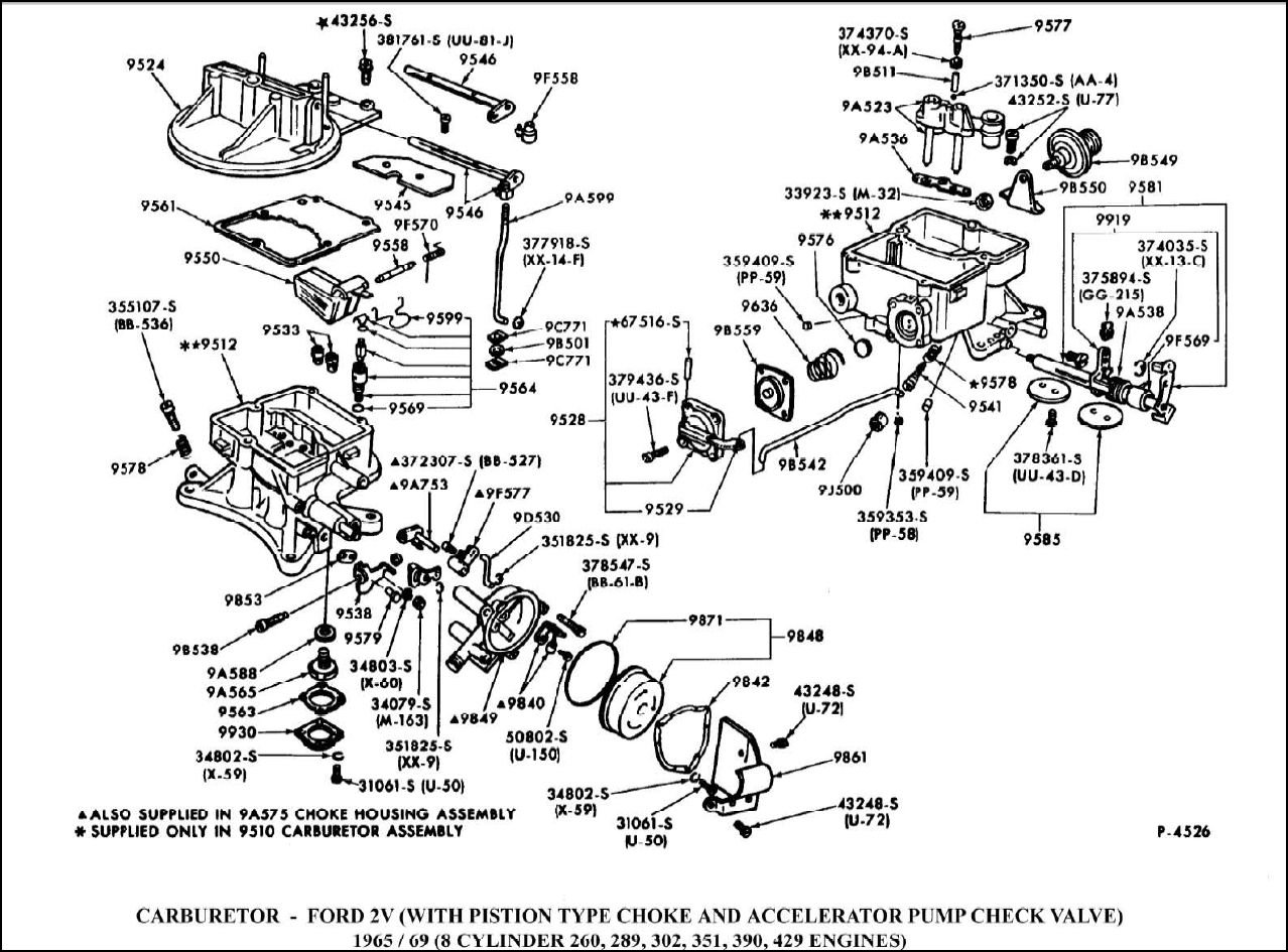 Autolite Carburetor Diagram