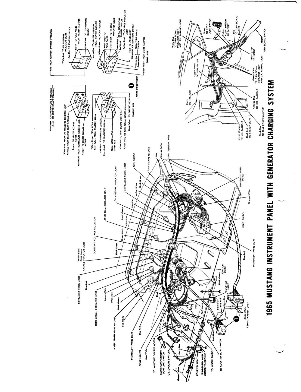 medium resolution of 1965 ford mustang wiring diagram on 1965 mustang tachometer wiring