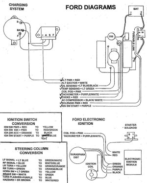No spark on 66 mustang  wiring diagram included  Ford