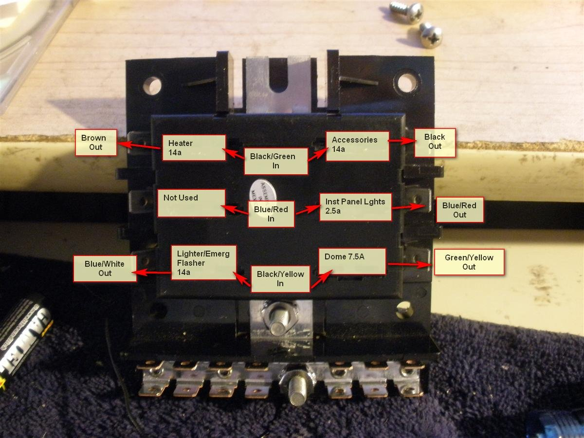 hight resolution of 1965 coupe at 289 replace fuse panel w blade type fuse blocks 4a