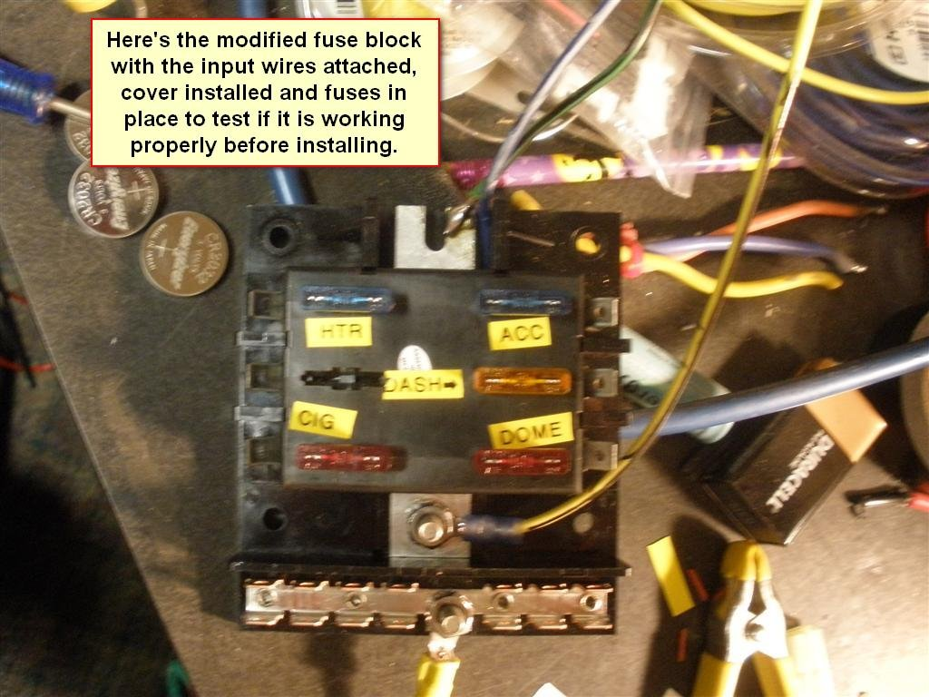hight resolution of 1965 coupe at 289 replace fuse panel w blade type fuse blocks 6