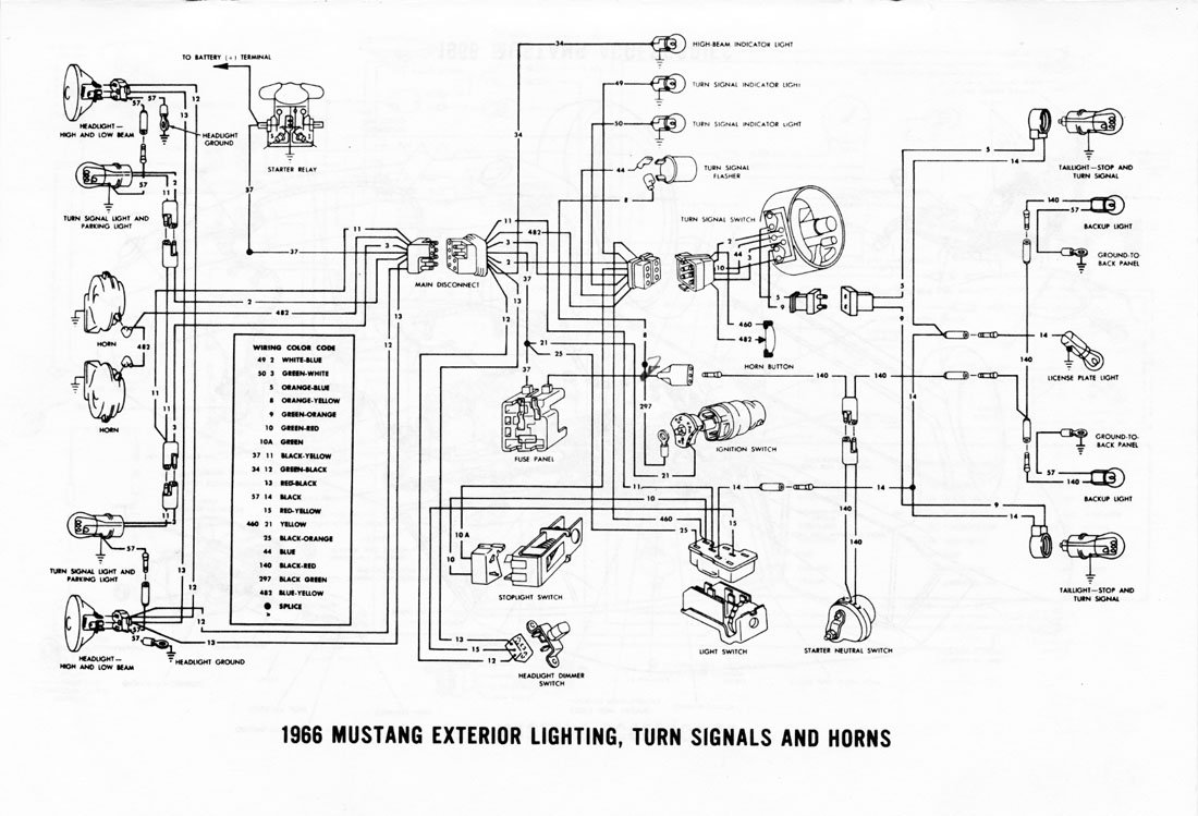 1965 Mustang Turn Signal Flasher Wiring Diagram, 1965