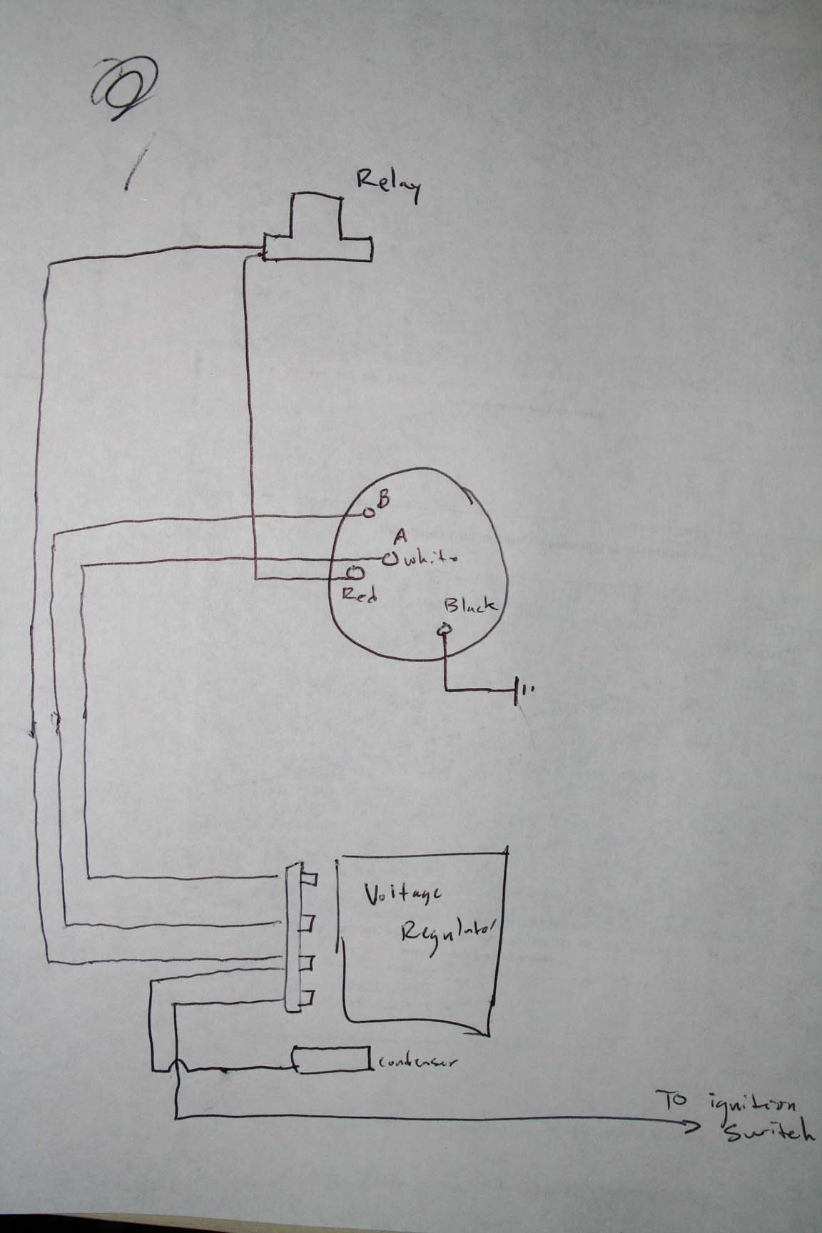 ford charging system wiring diagram 2006 chevy silverado 2500 radio voltage regulator alt on 67 coupe have a wire i 39m