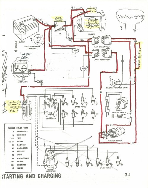 small resolution of dodge voltage regulator wiring diagram wiring library 1965 alternator starter and distributor wiring ford mustang