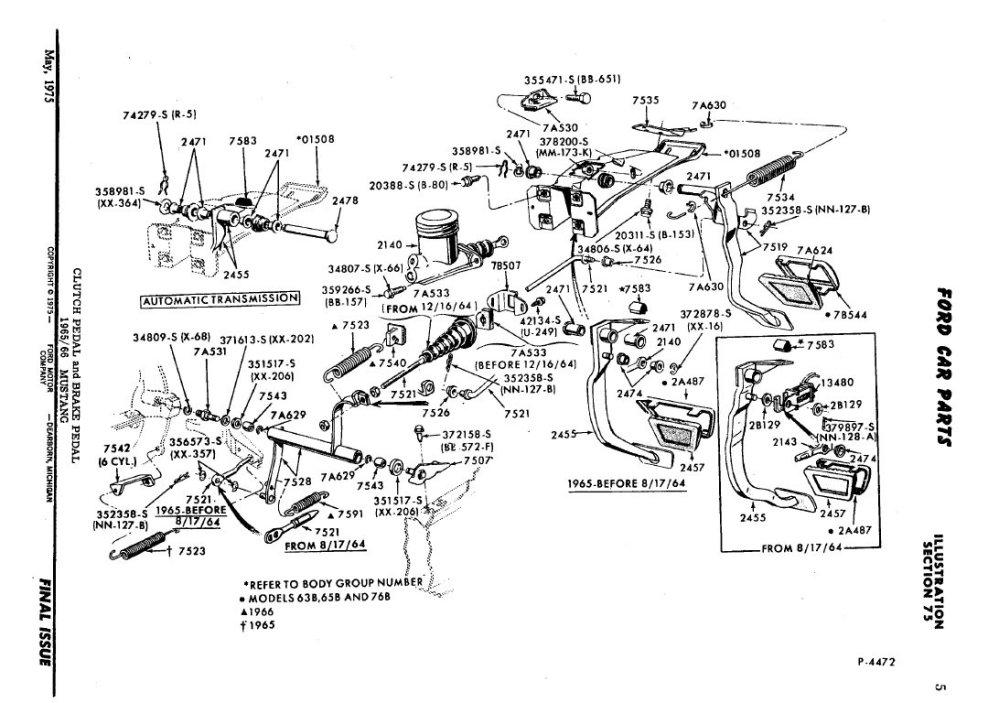 medium resolution of 1968 mustang steering column diagram photo ford mustang 65 brake pedal diagram