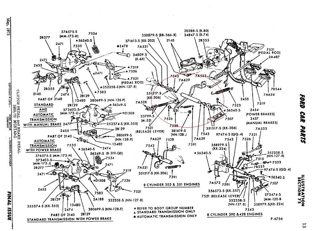 351 cleveland engine parts diagram