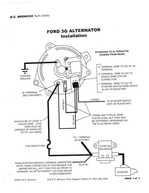 small resolution of 3g alternator wiring ford mustang forum 1965 mustang alternator wiring diagram 1966 ford mustang alternator wiring
