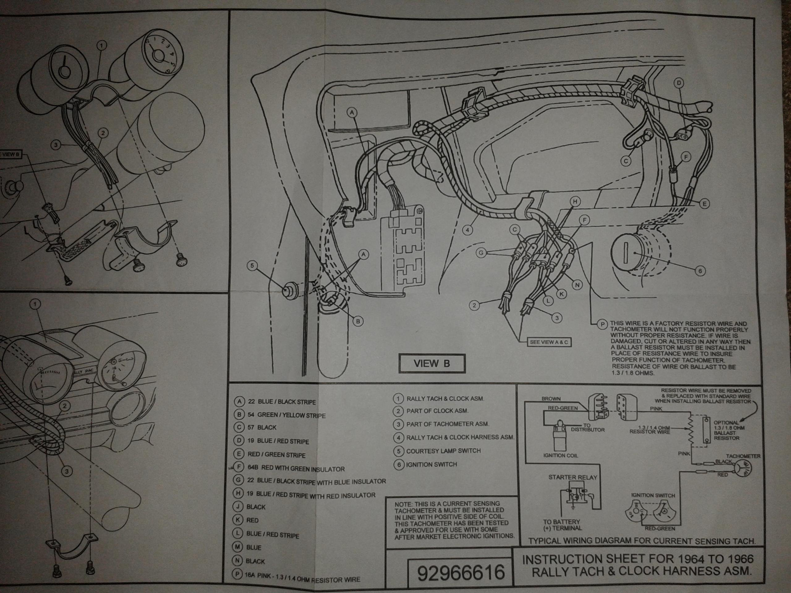 1965 Mustang Gt Wiring Diagram Manual Ebay